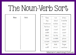 noun verb adjective worksheet free worksheets library download