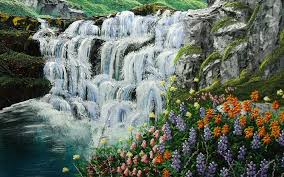 images of waterfalls and flowers best waterfall 2017
