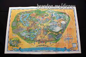 Map Of Disney World Parks 1968 Disneyland Park Map Wall Poster