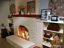 painted brick fireplace ideas binhminh decoration