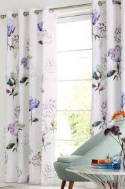 Floral Lined Curtains Buy Cotton Sateen Digital Floral Blackout Lined Eyelet Curtains