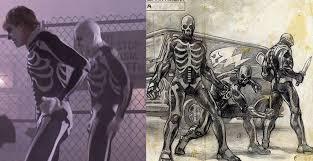 karate kid skeleton costume so uh is rob just remaking the karate kid metalsucks