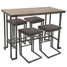 Pub Table And Chairs Set Modern Bar Pub Tables Allmodern