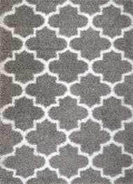 How To Clean Shag Rug Rug And Decor Inc Supreme Shag Royal Trellis Gray White Area Rug