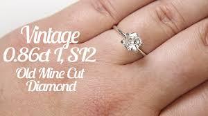 mine cut engagement ring antique mine cut 6 6mm oval cushion vintage