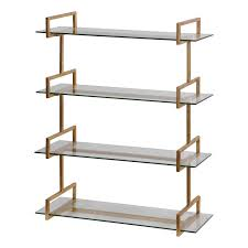 Wall To Wall Bookcases Auley Gold Wall Shelf Uttermost Wall Shelves Brackets Wall Decor