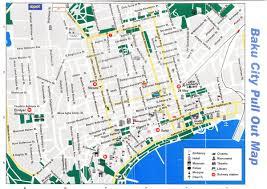 Map Of The Asia by Baku City Road Map Baku Azerbaijan Asia Mapsland Maps Of