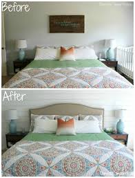 planked walls and upholstered headboards master bedroom progress