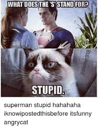 What Does Meme Stand For - what does the s stand for stupid superman stupid hahahaha