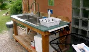 outdoor kitchen sinks ideas captivating outdoor kitchen plumbing diy sink plus home appliances