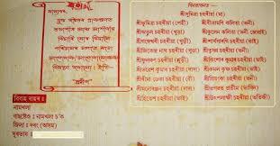 1st birthday invitation indian wording written in bengali
