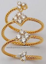 girls golden rings images Real diamond spiral finger ring design for girls and women in jpg