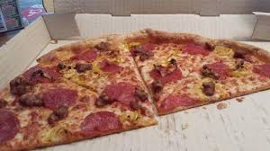 pizza mustang thin crust picture of pizza hut mustang tripadvisor