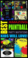 paintball party invitations kids will love