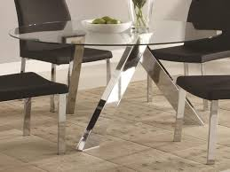 Chrome Table Legs by Metal Dining Table Legs And Bases Glass Room Sets Vance Pictures