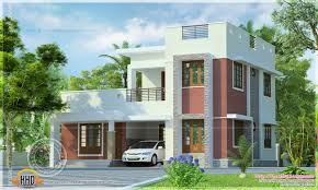 Flat Roof House Simple Flat Roof House Exterior Kerala Home Design And Floor Plans