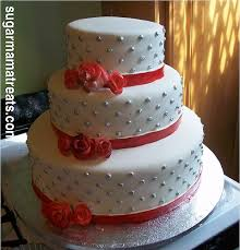 Red And Silver Wedding Red And Silver Wedding Cake Michelle Duquesnay Flickr