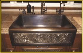 Artisan Kitchen Sinks by Chameleon Single Well Bronze Sink 32