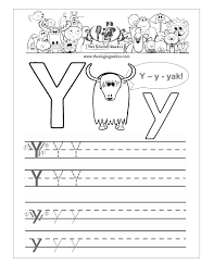 letter y worksheets for preschool kindergarten printable