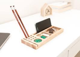 pencil holder desk organizer wood pen holder phone