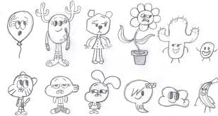 gumball cartoon characters coloring pages homie graphick tattoo