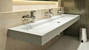 bathroom trough sink double trough trendy gray granite bathroom