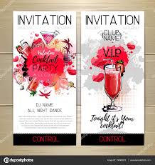 cocktail party poster invitation design u2014 stock vector