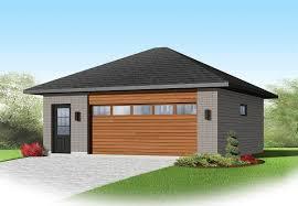 contemporary 2 car detached garage plan 22345dr architectural