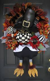 pre order for 2016 delivery thanksgiving turkey wreath mr gobble