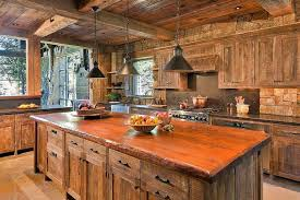 cuisine bois rustique cuisine bois de récupération en 20 idées d aménagement rustique