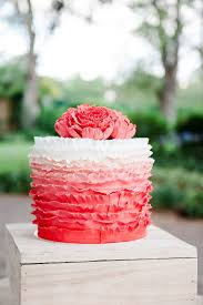 peach ombre wedding cake 25 ombre ruffle wedding cake wonders