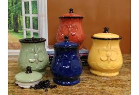 colorful kitchen canisters kitchen canister sets to store foods efficiently exist decor