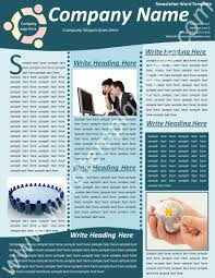 8 best images of one page newsletter template word free family
