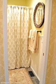 Country Bathroom Shower Curtains Country Bathroom Makeover At The Picket Fence