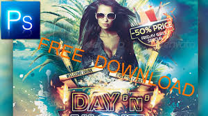 party flyer free day and night free photoshop party flyer youtube