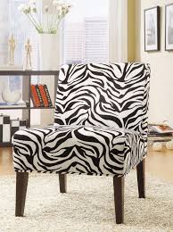 funiture zebra accent chairs without arm in high wooden legs over