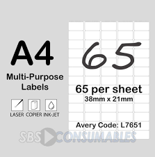 label printing template 21 per sheet and printable white sticky