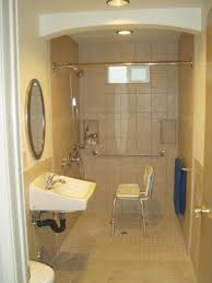 handicap accessible home plans bathroom design plans doorless shower modern chic and blue white