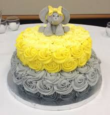 yellow baby shower ideas cool yellow and grey baby shower cake 33 for baby shower food