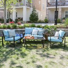 Conversation Sets Patio Furniture - blue gray patio conversation sets outdoor lounge furniture