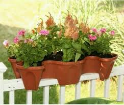 deck with unique shaped planter outdoor deck railing planters