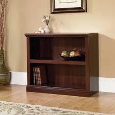 Rta Bookcases Sauder 2 Shelf Bookcase Select Cherry Walmart Com