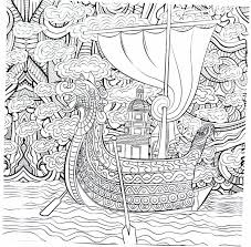viking ship coloring page 32 besten fantasy coloring book pages for adults bilder auf