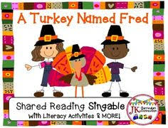 thanksgiving song turkey feathers shared reading singable