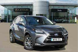 lexus nx used 2016 used 2016 lexus nx 300h 2 5 luxury 5dr cvt for sale in derbyshire