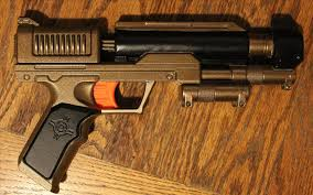 the easiest way to paint a steampunk nerf gun no disassembly