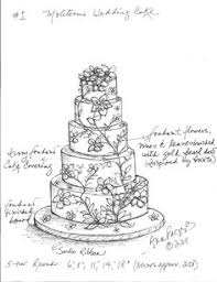 custom wedding cake sketch sketches pinterest sketches