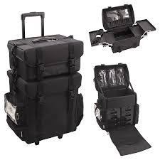 professional makeup storage makeup trolley 2 black