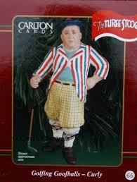 carlton golfing goofballs curly three stooges ornament
