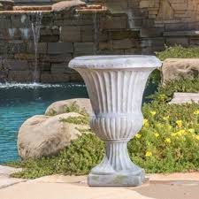 Urn Planters With Pedestal Christopher Knight Home Antique Green Italian 26 Inch Urn Planter